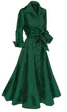 Made for mistletoe: J. Peterman Company's vintage-inspired silk dupioni dress. Image source