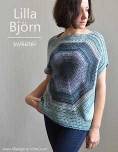 Lilla Bjorn off-shoulder sweater - free crochet pattern by www.lillabjorncrochet.com