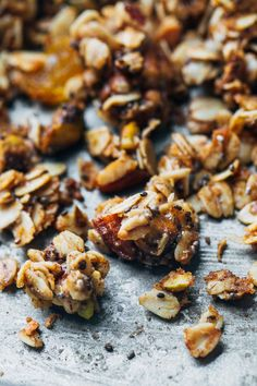Coconut Oil Granola Pinch of Yum Blog mentions cinnamon but isn't listed in the recipe;  be sure to add