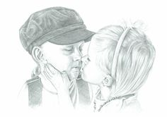 Children, from a lovely photo. Size A3.