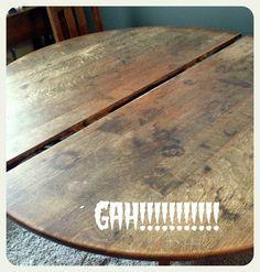 refinishing wood with steel wool, murphy's oil soap, danish oil + howard's feed-n-wax