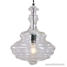 **Hanglamp Transmir glas chroom slaapkam - www.straluma.nl
