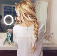 ↠{@AlinaTomasevic}↞ :Pinterest <3 | ☽☼☾ love life ☽☼☾ | hair, girl, and blonde image
