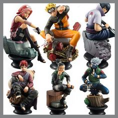 6pcs/set Naruto Action Figures Dolls Chess New PVC Anime Naruto Sasuke Gaara Figurines for Decoration Collection Gift Toys