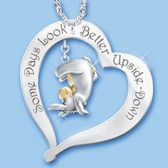 Some Days Look Better Upside Down Eeyore Pendant Necklace: Disney Winnie The Pooh Jewelry by The Bradford Exchange Winnie The Pooh Friends, Disney Winnie The Pooh, Eeyore Pictures, Eeyore Quotes, Friend Quotes, Quotes Quotes, Disney Jewelry, Disney Necklace, Little Elephant