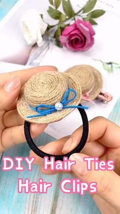 Diy Hair Bows, Making Hair Bows, Diy Bow, Diy Ribbon, Diy Hair Clips, Handmade Hair Bows, Ribbon Flower, Ribbon Hair, Diy Crafts Hacks