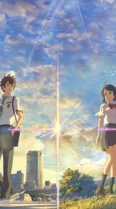 Kimi No Na Wa Wallpaper, Anime Wallpaper Live, Your Name Wallpaper, Anime Scenery Wallpaper, Anime Backgrounds Wallpapers, Animes Wallpapers, Japanese Wallpaper Iphone, Cartoon Wallpaper Iphone, Anime Songs