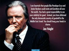 Jon Voight stands with Israel.