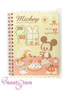 janetstore.com: kawaii stationery,letter sets, stickers, gifts and more - Disney Mickey Mouse notebook 4901770228990