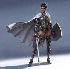 F fighter plate armor shield cloak sword female armor, female knight, fantasy female warrior Fantasy Female Warrior, Female Armor, Female Knight, Fantasy Armor, Fantasy Women, Fantasy Girl, Female Character Concept, Fantasy Character Design, Character Design Inspiration