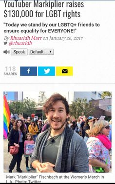 Yesss I's a part of the LGBT, great to know Mark supports equal rights ☺