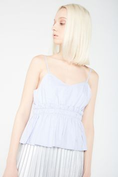 Peplum Cami With Frill Detail