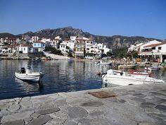 morning Kokkari village, samos, greece