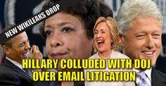 WIKILEAKS RELEASE : Clinton Campaign Spokesman was Coordinating with DOJ Regarding Email Litigation (10/11/16)