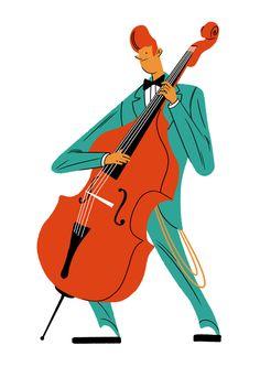 Illustration Portfolio of Janne Iivonen Music Illustration, Character Illustration, Graphic Illustration, Character Concept, Character Art, Concept Art, Character Design, Jazz Poster, Images Disney