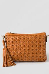 Perry Woven Clutch, Francesca's