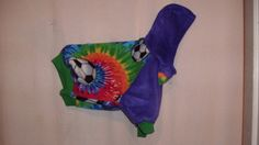 size small tie dye pet hoodie by FlyingPigsInc on Etsy