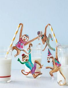 Sweet Paul's D.I.Y. monkey straws.
