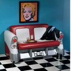 Back Seat Driver Pop Art Sofa
