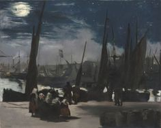 Édouard Manet Moonlight over the Port of Boulogne - The Largest Art reproductions Center In Our website. Low Wholesale Prices Great Pricing Quality Hand paintings for saleÉdouard Manet Renoir, James Abbott Mcneill Whistler, Mary Cassatt, Nocturne, Eduardo Manet, Video Streaming, Restaurant Mexicano, Théo Van Rysselberghe, Moonlight Painting