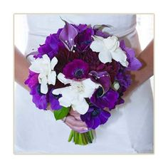 Brides Lavender, Blue and White Bouquets Wedding Photos Lavender... ❤ liked on Polyvore featuring home, home decor and blue and white home decor
