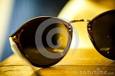 A pair of round glasses, retro style