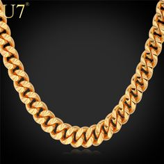 U7 Brand Necklace Long/Choker Yellow Gold Plated 6MM Cuban Link Chain For Men Hiphop Jewelry Wholesale N383 //Price: $12.00 & FREE Shipping // Get it here ---> http://bestofnecklace.com/u7-brand-necklace-longchoker-yellow-gold-plated-6mm-cuban-link-chain-for-men-hiphop-jewelry-wholesale-n383/    #Necklace