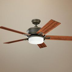 "52"" Kichler Talbot Oiled Bronze Ceiling Fan  texasbrightideas.com"
