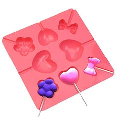 Cake Decorating Supplies Silicone Lollipop Pop Mold Baking Tray Heart Flower Cake Cookie Chocolate Mould ** Want to know more, click on the image.