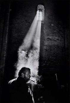 """Orson Welles during the filming of """"Chimes at Midnight"""", Spain, by Nicolas Tikhomiroff. [""""Chimes at Midnight"""" also known as """"Falstaff"""" or """"Campanadas a medianoche"""" (Orson Welles, Film Photography, Street Photography, Photography Lighting, People Photography, Artistic Photography, Mysterious Photography, Photography Ideas, Low Key Photography, Insect Photography"""