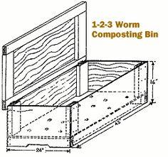 Make your own outdoor worm bin