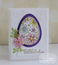 Easter Wishes Handmade Easter Card #tayloredexpressions