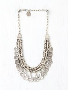 Chanour Pewter Short Chain Collar at Free People Clothing Boutique