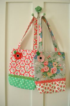 lovely print fabric bags