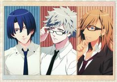UtaPri ~~ Stripes and Specs :: Masato, Ranmaru and Ren