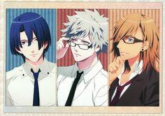 UtaPri ~~ Stripes and Specs :: Masato, Ranmaru and Ren