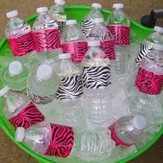 Duck tape water bottle labels - There are different patterns