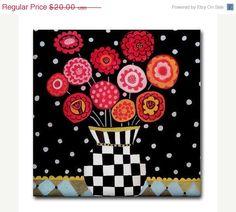 30 Sale Ending  Kitchen Tile  Flower Tile  by HeatherGallerArt, $14.00