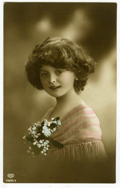 C 1912 Children Child Cute Little Girl Antique Vintage Photo Postcard | eBay