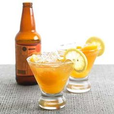The Aloha Shandy Shandy is traditionally 50-50 lemonade and beer. This version adds some Hawaiian flavor with passion fruit juice.