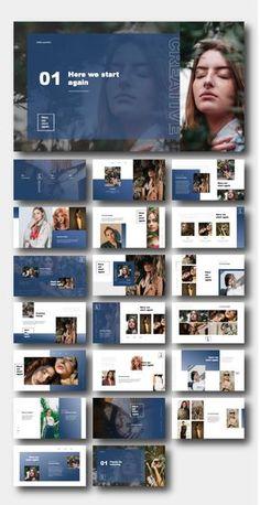 Template Brochure, Powerpoint Design Templates, Brochure Design, Branding Design, Identity Branding, Templates Free, Visual Identity, Flyer Template, Presentation Design Template