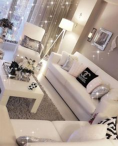 Bling bling - Architecture and Home Decor - Bedroom - Bathroom - Kitchen And Living Room Interior Design Decorating Ideas - Glam Living Room, Living Room Decor Cozy, Formal Living Rooms, Interior Design Living Room, Home And Living, Living Room Inspiration, Dining Room Design, My New Room, Apartment Living