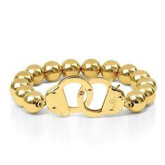 18k Gold   Beaded Cuff Bracelet