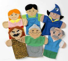 People hand puppet set 2