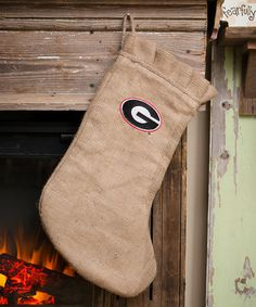This Georgia Bulldogs Burlap Stocking is perfect! #zulilyfinds
