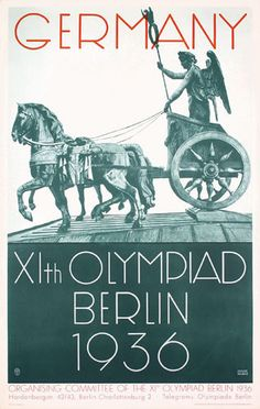 Poster for the XI Olympic Games in Berlin 1936 Olympics, Berlin Olympics, Summer Olympics, Ww2 Posters, Poster Ads, Advertising Poster, World History, World War Ii, Nazi Propaganda