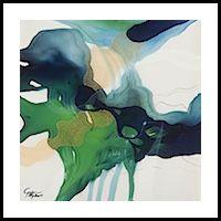 John Martono 'Green Serenade' | Framed print