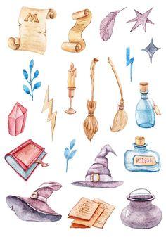 Mug Harry Potter, Images Harry Potter, Harry Potter Stickers, Harry Potter Items, Harry Potter Printables, Harry Potter Drawings, Harry Potter Halloween, Harry Potter Outfits, Harry Potter Clip Art