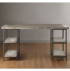 Industrial Computer Desk Table Rustic Restoration Distressed Storage Vintage NEW