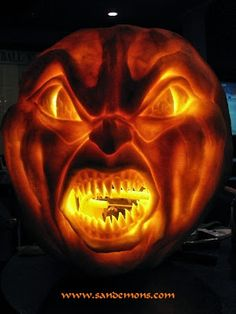 creepy jack-o-lantern perfect to scare guests as they walk into the restroom... Halloween Decorations: Bathroom Edition from Bathroom Bliss by Rotator Rod